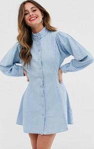 Sukienka Asos Design z długim rękawem koszulowa mini