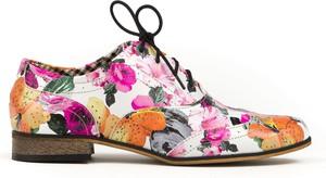 Półbuty Zapato w stylu vintage ze skóry z płaską podeszwą