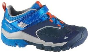 Niebieskie buty trekkingowe dziecięce Quechua sznurowane