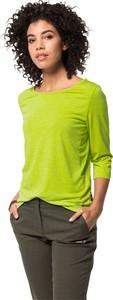Zielona bluzka Jack Wolfskin z jedwabiu