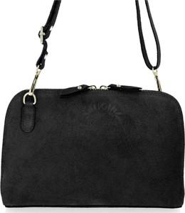 Czarna torebka VITTORIA GOTTI z zamszu w stylu glamour matowa
