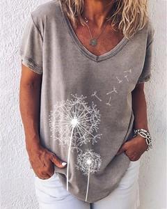 Bluzka Kendallme z dekoltem w kształcie litery v w stylu casual z bawełny