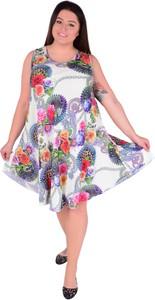 Sukienka Dedra z okrągłym dekoltem oversize bez rękawów