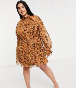 Sukienka Asos z szyfonu mini