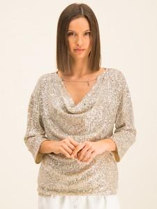 Złota bluzka Patrizia Pepe w stylu casual