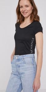 T-shirt Armani Exchange z dzianiny z krótkim rękawem z okrągłym dekoltem