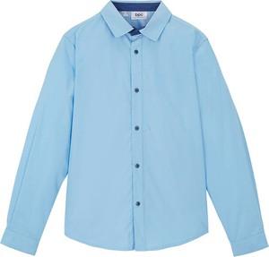 Niebieska koszula dziecięca bonprix dla chłopców