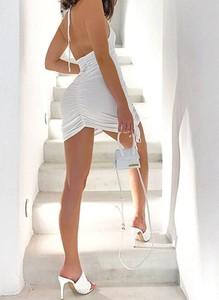 Sukienka Sandbella z długim rękawem dopasowana