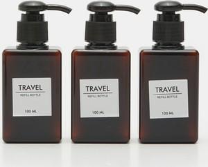 Sinsay - Pojemniki podróżne 3 pack - Czarny