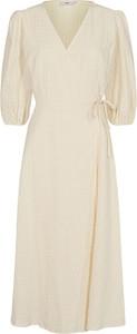 Sukienka Minimum z dekoltem w kształcie litery v z długim rękawem