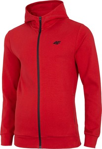 Czerwona bluza 4F z dzianiny w sportowym stylu