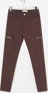 Brązowe jeansy Sinsay z jeansu