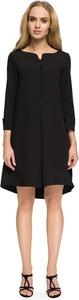 Czarna sukienka Stylove z długim rękawem asymetryczna