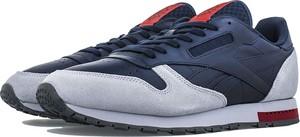 Niebieskie buty sportowe Reebok z nubuku sznurowane w street stylu
