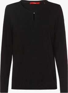 Czarny t-shirt S.Oliver w stylu casual