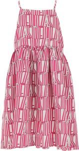 Różowa sukienka dziewczęca Stella McCartney z bawełny