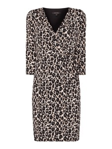 Sukienka comma, w stylu casual kopertowa z długim rękawem