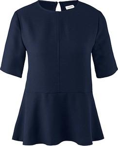 Niebieska bluzka Tchibo z okrągłym dekoltem