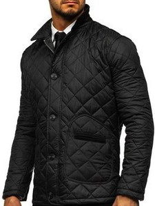 Czarna kurtka Denley z bawełny