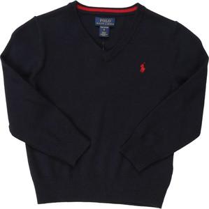 Granatowy sweter POLO RALPH LAUREN z tkaniny