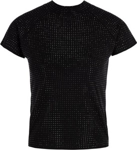 Bluzka Guess z okrągłym dekoltem z krótkim rękawem w stylu casual