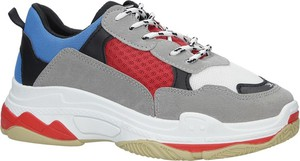 Buty sportowe Casu z płaską podeszwą w sportowym stylu sznurowane