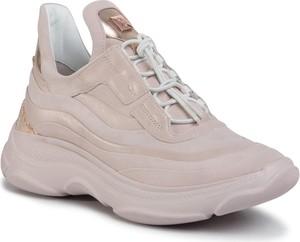 Buty sportowe Hogl ze skóry na platformie sznurowane
