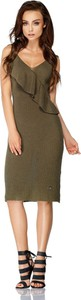 Sukienka TAGLESS z dekoltem w kształcie litery v na ramiączkach midi