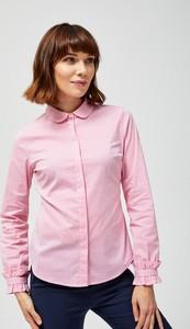 Różowa koszula Moodo z długim rękawem
