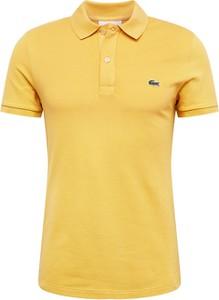 Żółta koszulka polo Lacoste z krótkim rękawem