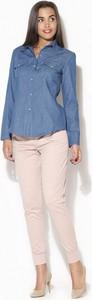 Koszula Katrus w stylu casual z długim rękawem z bawełny