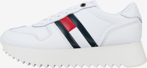 Sneakersy Tommy Hilfiger sznurowane ze skóry