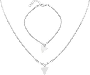 Irbis.style srebrny komplet biżuterii - bransoletka i naszyjnik