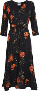 Sukienka Hanka By Miciak z dekoltem w kształcie litery v z długim rękawem