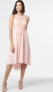 Różowa sukienka Esprit bez rękawów z szyfonu