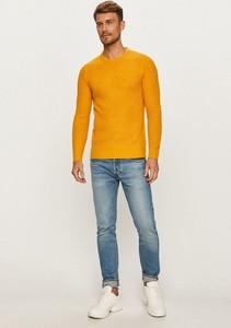 Żółty sweter Brave Soul z okrągłym dekoltem w stylu casual