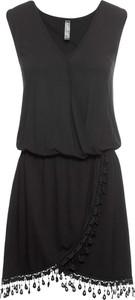 Czarna sukienka bonprix RAINBOW midi bez rękawów