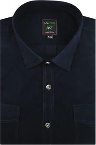 Koszula Laviino z klasycznym kołnierzykiem z tkaniny z długim rękawem