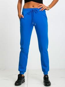 Niebieskie spodnie sportowe Sheandher.pl z dresówki