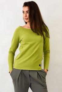 Zielona bluza Byinsomnia z dresówki