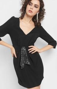4b9ae44cc9 sukienka czarna cekinowa - stylowo i modnie z Allani