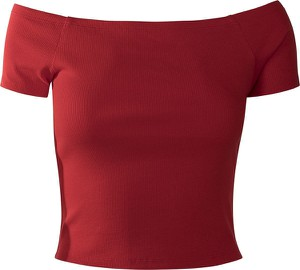 Czerwony t-shirt Emp z krótkim rękawem