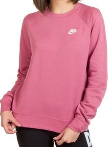 Różowa bluza Nike w sportowym stylu krótka z bawełny