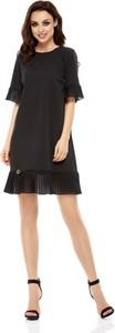 Czarna sukienka Lemoniade mini z okrągłym dekoltem