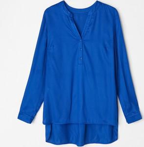 Niebieska koszula Mohito z długim rękawem