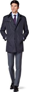 Granatowy płaszcz męski LANCERTO