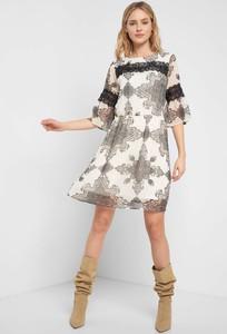 Sukienka ORSAY mini z długim rękawem z tkaniny