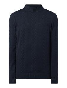Granatowy sweter Tom Tailor w stylu casual z bawełny