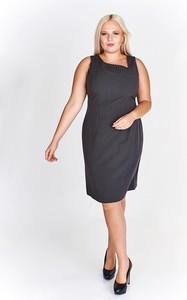 Granatowa sukienka Fokus asymetryczna