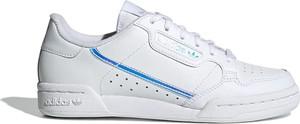 Trampki Adidas sznurowane ze skóry z płaską podeszwą